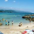 九十浜海水浴場では8月後半も泳いでます